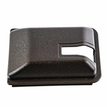 Sliding Door Interior Lock Mechanism Cover, 8/84-91, Black.   255-843-698AB