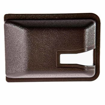 Sliding Door Interior Lock Mechanism Cover, 80-7/84, Brown.   255-843-698