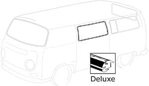 Deluxe Centre Side Window Seal 68-79 Fits Left or Right, Top Quality.   241-845-321B WW