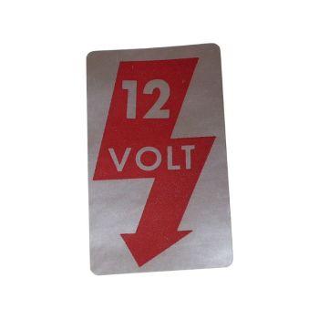 12volt Sticker for Door Pillar.   AC853941
