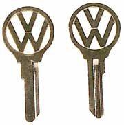 Key Blank  A, D, E, F, V, Z Profile, 55-64 Bus, Genuine VW.   111-837-219-AS59