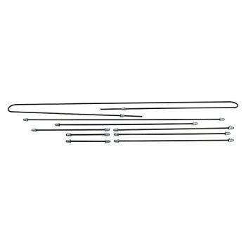 Steel Brake Pipe Kit, German 74-79 1302/1303 Beetle for Drum Brakes.    133-698-501A