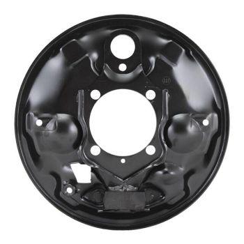 Rear Brake Backing Plate, Left 8/64-7/67 Beetle.   113-609-439C