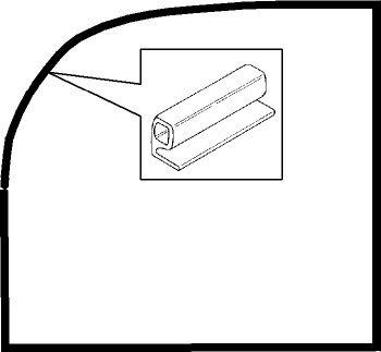 Cab Door to Body Seals, Pair 49-55 Beetle.    111-831-721