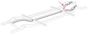 Rear Fork Heater Tube Insulation Cover 55-67.   211-255-725E