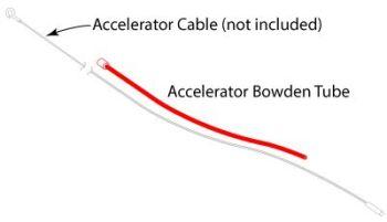 Flexible Accelerator Cable Conduit Tube 75-79 Fuel Injection.   211-721-551J