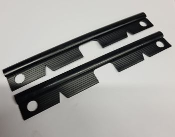 Front Bumper to Step Joint Rubber (Pair) 68-72, BLACK.   211-707-197BK