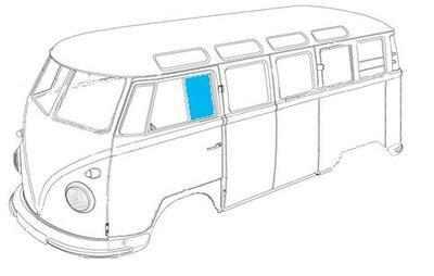 Splitscreen Front Door Fixed Window Glass 55-67