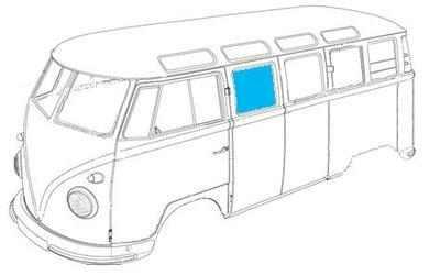 Splitscreen Fixed Side Window Glass 50-67