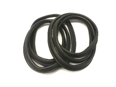 Front Screen Seals, Pair, Top Quality with Moulded Corners 55-67.   211-845