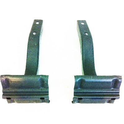 Rear Bumper Bracket - Pair (Ribbed Bumper) 55-58.   211-707-335