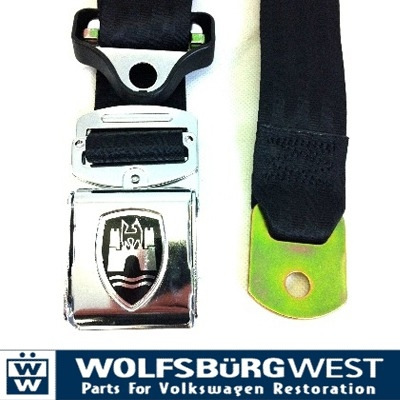 3-Point Seat Belt, Black Chrome Buckle 50-67.   ZVW20ACRBK