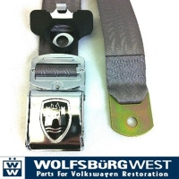 3-Point Seat Belt, Grey, Chrome Buckle 50-67.   ZVW20ACRGY