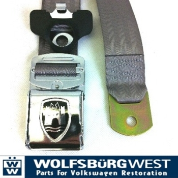 3-Point Seat Belt, Grey, Chrome Buckle 50-79.   ZVW20ACRGY