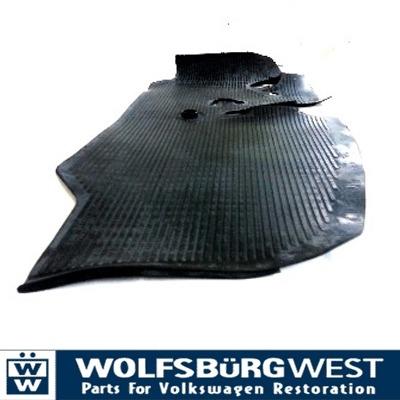 Cab floor rubber mat LHD 68-72 211-863-711D