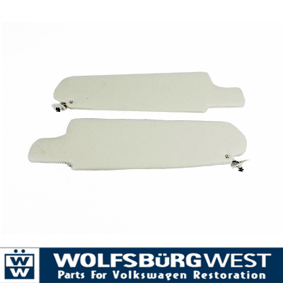 Sunvisors, White, Pair 68-79 Top Quality.   211-857-551D