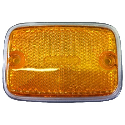 Side Marker Lens Yellow & Silver