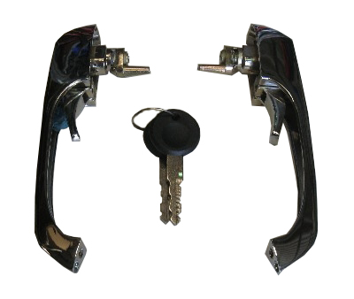 Front Door Handles Keyed Alike (Pair) 69-79.   211-898-205N