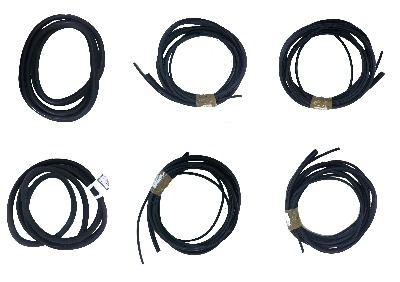 6 Window Seal Kit, Van Conversion, Black Insert 80-92.   251-845-521BK