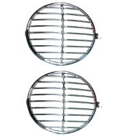 Headlight Grille's Pair, 356 Style, Stainless Steel.   SCH356
