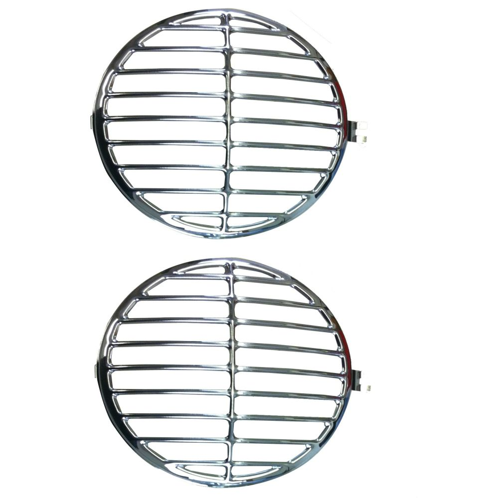 Headlight Grille's Pair, 365 Style, Stainless Steel.