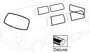 Deluxe Bus Window Seal Kit 69 - 79 Weather Strip Kit   241-845-003