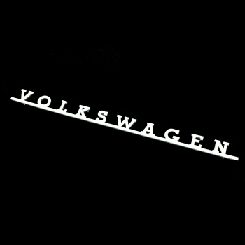 VW Rear Script Badge, Split & Bay.   311-853-687