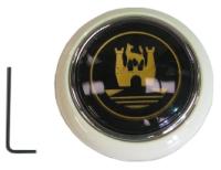 Steering Wheel Horn Push Ivory/Gold 55-67.   211-951-301IG