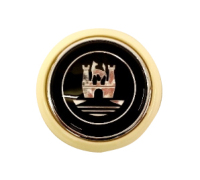 Steering Wheel Horn Push, Ivory with Chrome Crest 55-67.   211-951-301IC