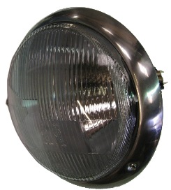 Hella Headlight RHD Lens, Left Side 55-67.   214-941-039