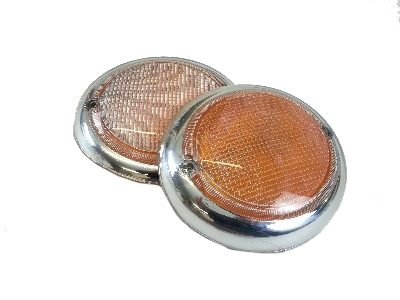 Fisheye Indicator Lens (Pair) Top Quality!! 62-67.   211-953-161B