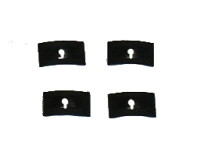 Rear Script Badge Clips (Set of 4) 63-73.   311-853-615