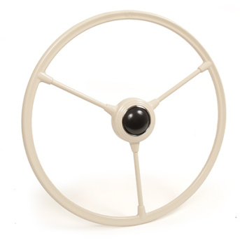 Barndoor Steering Wheel w/Horn Push, Ivory 50-55.   211-415-651IV