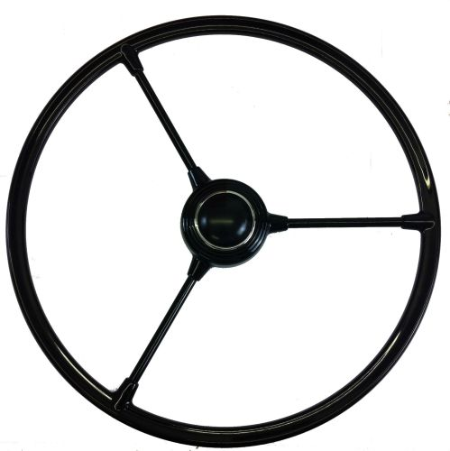 Barndoor Steering Wheel w/Horn Push, Black 50-55.   211-415-651