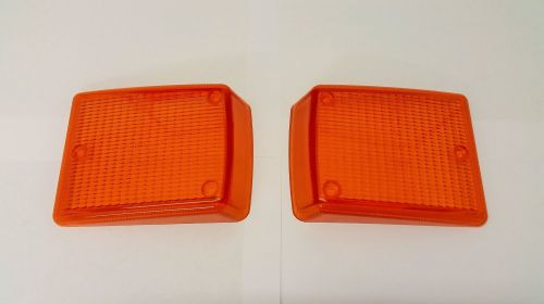 NOS Front Indicator Lenses, Pair 72-79, Amber.    211-953-141NOS
