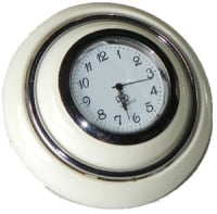 Horn Push, Ivory with Clock 55-67.  211-951-301IVC