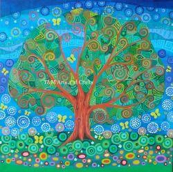 Tree 25 Thirteen Yellow Butterflies