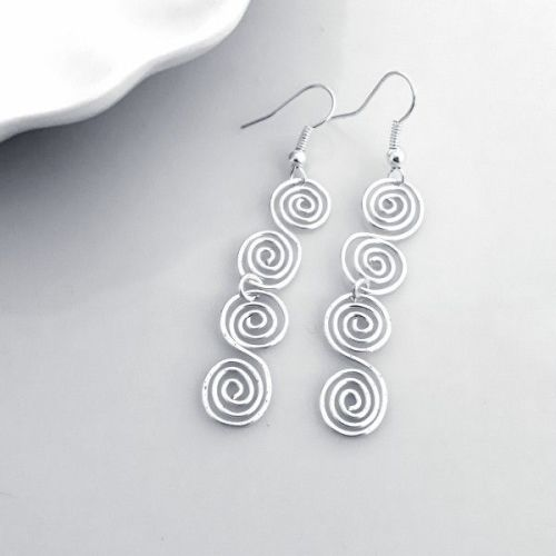 Double Celtic spiral earrings