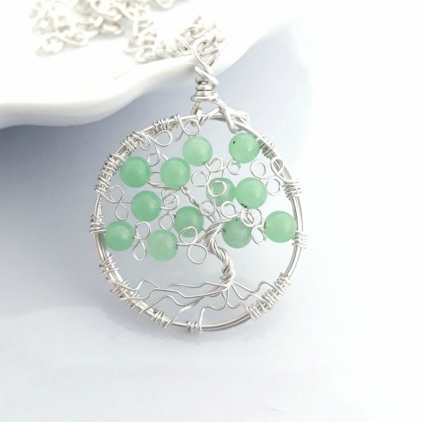 Tree of Life Pendant with Aventurine