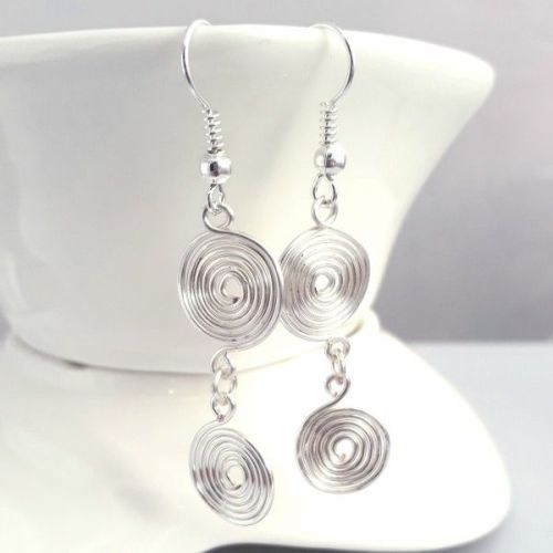 Double closed spiral earrings