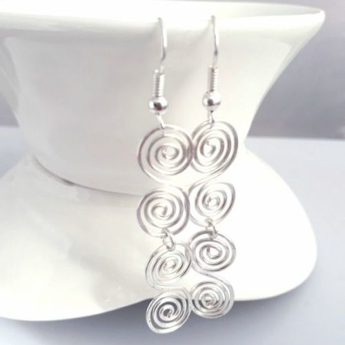 Double Celtic spiral earrings