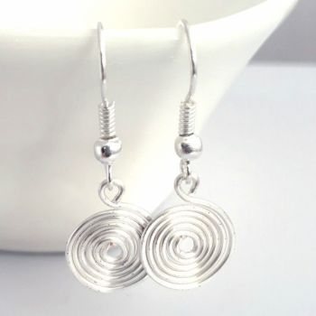Single closed spiral Earrings