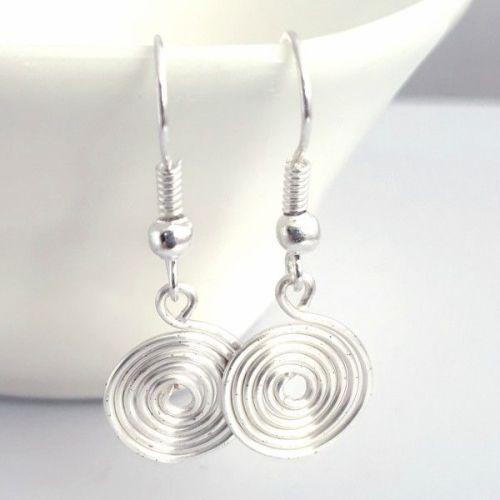 Single closed spiral Earrings