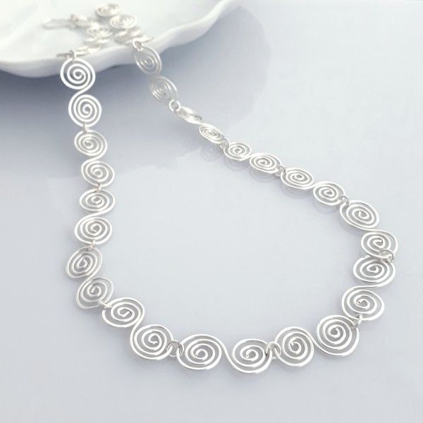 Silver Spiral Necklaces