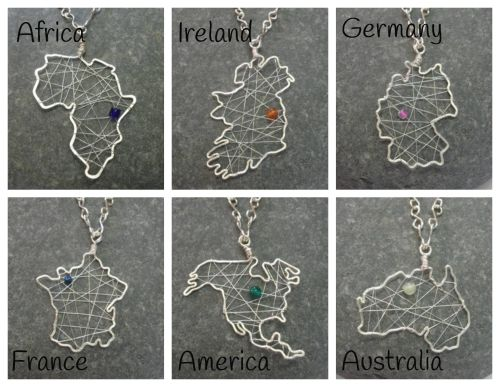 Map pendants (1)