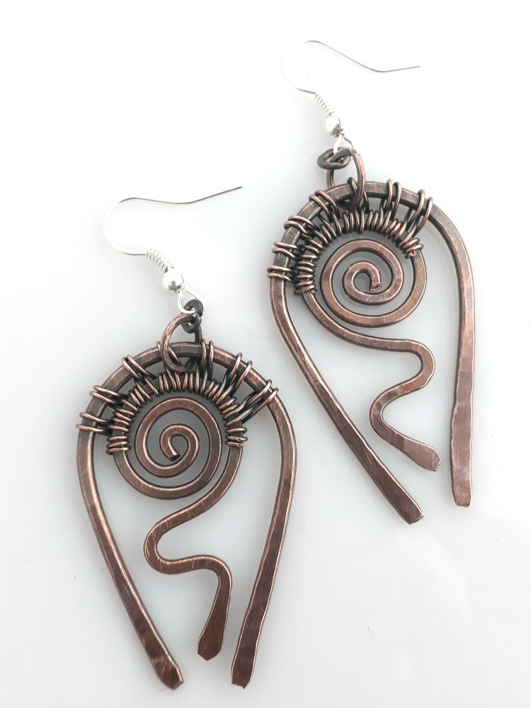 tribal copper earrings 3