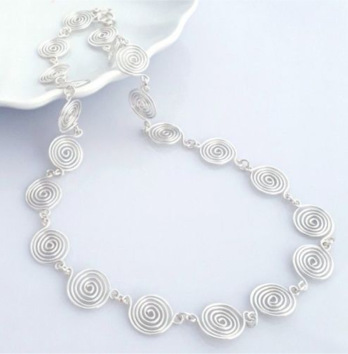 Open Spiral Necklace