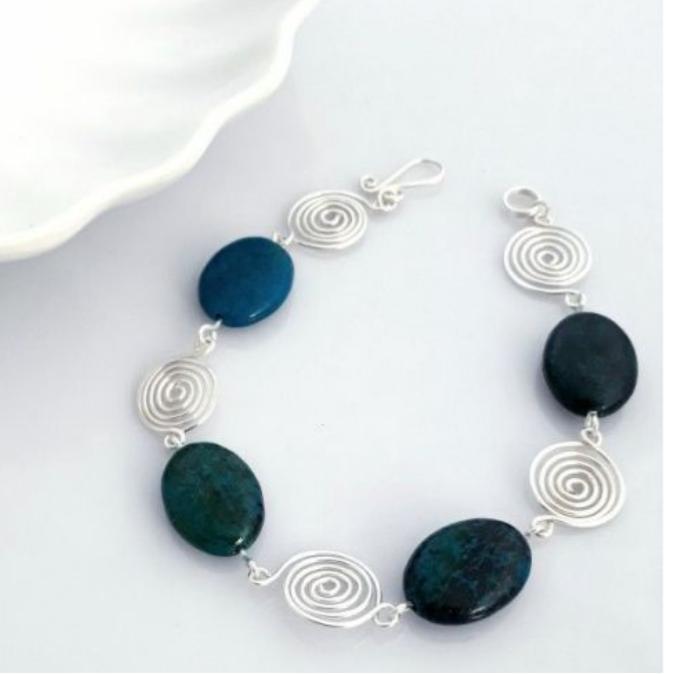 Azurite spiral bracelet 1