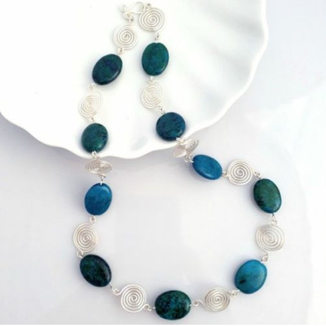 Azurite necklace