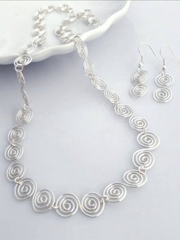 3 Celtic spiral Set Necklace and Earrings